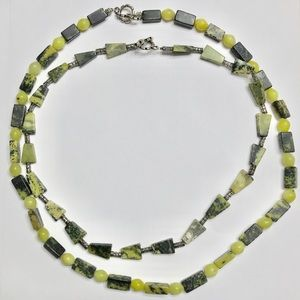 Bundle of 2 Green Beaded Necklaces